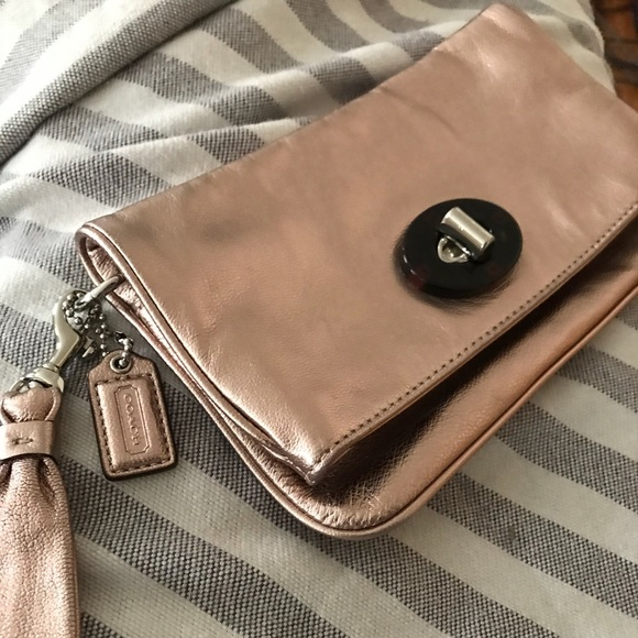 e8e881e9b4 Coach Bags | Wristlet In Metallic Copper | Poshmark